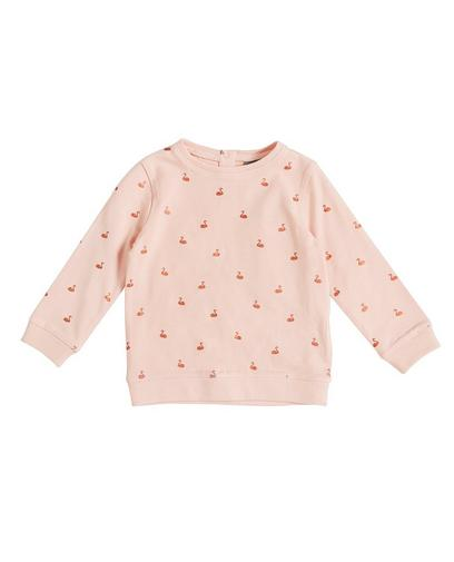 Sweater met glitterprint